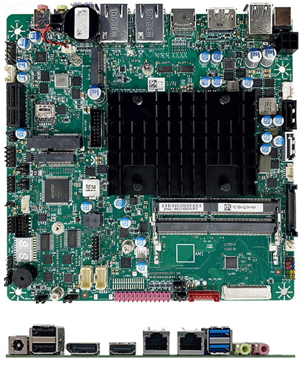 Mitac PD10EHI-N6211 (Intel DN2800MT5) Thin-ITX (Intel Elkhart Lake N6211 2x3.0Ghz CPU, 8-24VDC) <b>[FANLESS]</b>