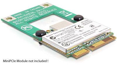 Delock Half Size to Full Size Mini PCI Express Card Adapter