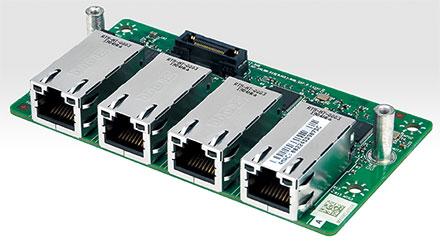 Mitac MX1-10FEP expansion module MS-04LAN-R10 (4x Intel i210-IT Gigabit LAN)