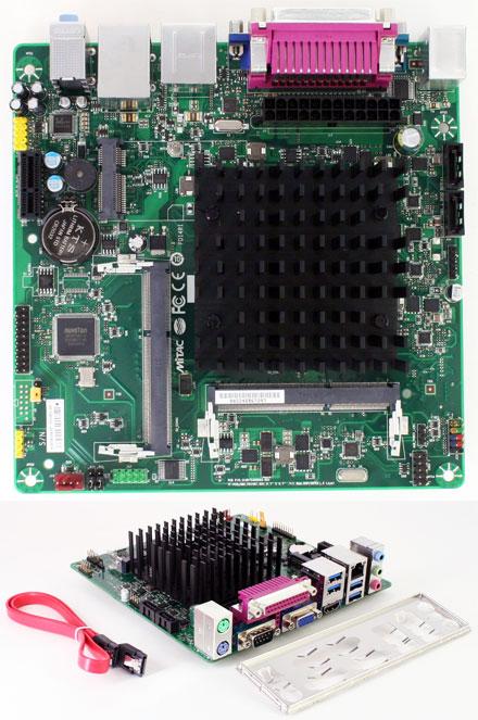 Mitac PD14RI-N3060 (Intel D2500HN2) (Intel Braswell Celeron N3060 2x 2.48Ghz CPU, Mini-PCIe) [<b>FANLESS</b>]