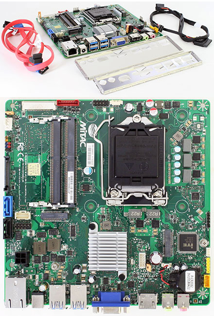 Thin-/Mini-ITX Mainboard Intel H110 LGA1151 (2x M.2, 12V DC In)