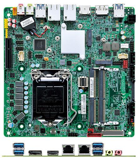 Mitac PH12FEI (SKU i2, eDP) Thin-ITX (Intel Q370, LGA1151 Coffee Lake)