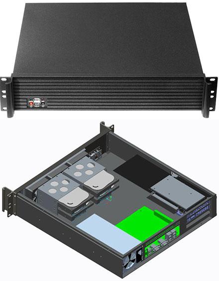 Morex Mini-ITX case 2U-272 (without power supply)