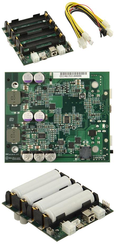 NUC-UPS (6-38V Input, 12V Output 5A, programable backup-interface, NUC format)