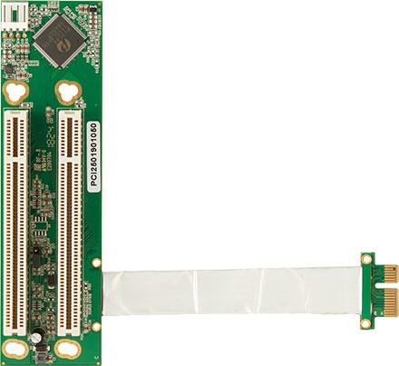 PCI250 PCIe(x1) to 2x PCI Riser flexible (100 mm)