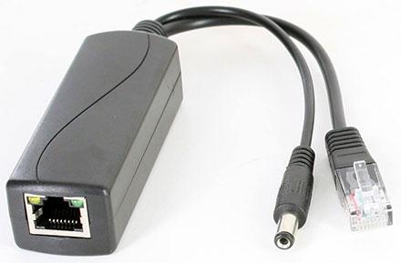 POE Injector/Splitter (POE IEEE 802.3af zu 12V/1.3A + LAN) [für z.b. IP-Kameras ohne POE]