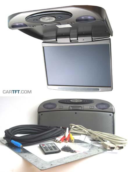 "RM1540 -- 15.4"" TFT VGA + PAL/NTSC/SECAM Roof mount display"