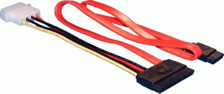 """Adapter SATA-HDD 2.5"""" to SATA-MB and Power"""