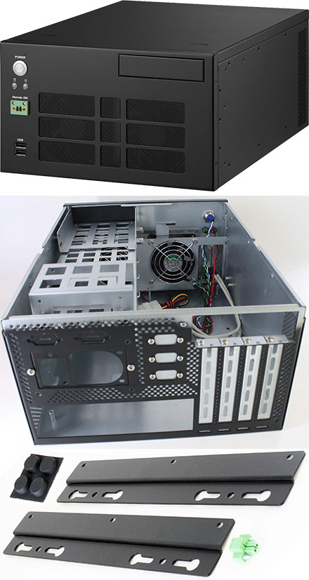 "STM749 Mini-ITX/Micro-ATX enclosure (1x 3.5"", 2x 2.5"", 4x PCI)"