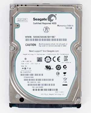 "Seagate Momentus 5400.6 500GB (ST9500325AS) 2.5"" SATA (<b>RECERTIFIED, 1 yr. warranty</b>)"