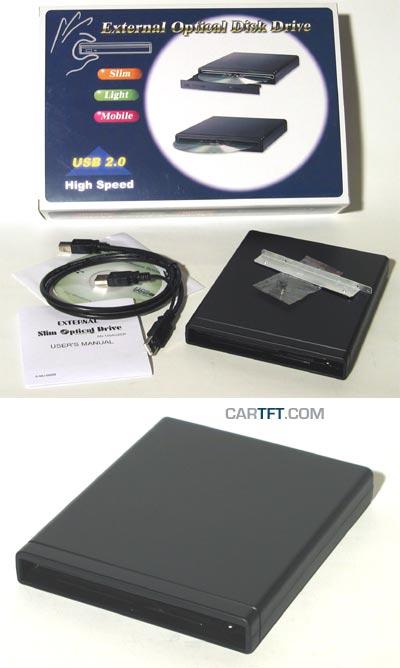 Ext. Case 5,25 USB SLIM (for CD/DVD) + Slimline DVD+-RW [<b>SPECIAL</b>]
