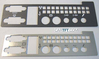 Metal rear plate f. Travla C134/C150 (for VIA ITX SP-series)