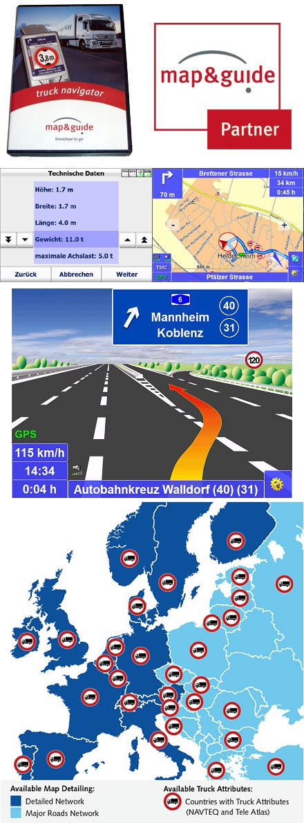 PTV TruckNavigator 10.5 (Europe incl. East-Europe, Speech, TMC) [PDA/PC]