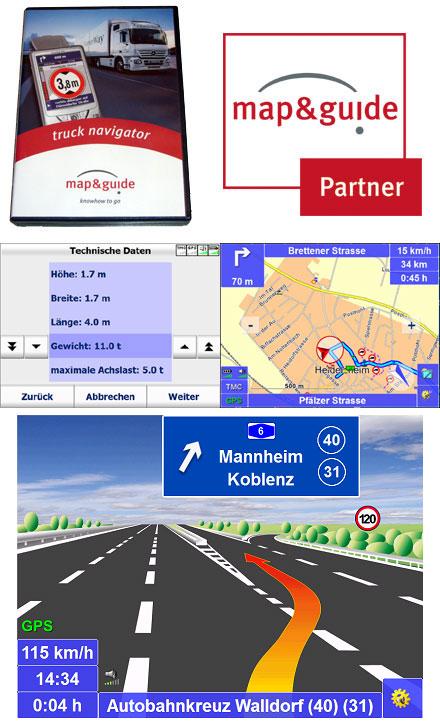 PTV TruckNavigator 9.0 (Deutschland/Österreich/Schweiz (DACH), Sprachausgabe, TMC) [PDA/PC] [LKW]