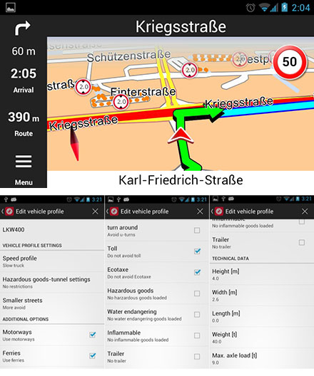 PTV Truck Navigator (EUROPE) [Android] (Pre-Installed on CarTFT device)