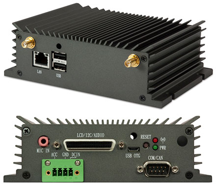 VIA AMOS-825 Industrial-PC/CarPC (1.0GHz i.MX 6Quad Cortex-A9, 9-36VDC, 1GB RAM/16GB eMMC) <b>[FANLESS]</b>