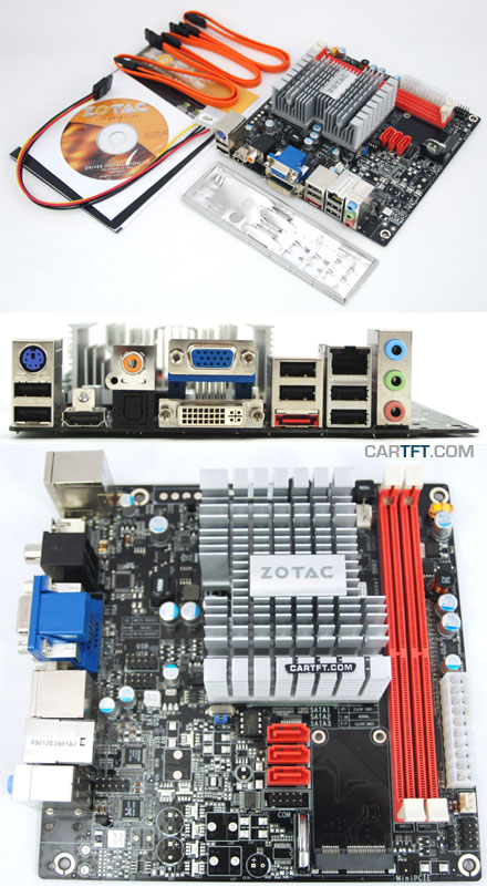 ZOTAC ION ITX B-E (with integrated Atom 1.6Ghz CPU) [<b>FANLESS</b>]