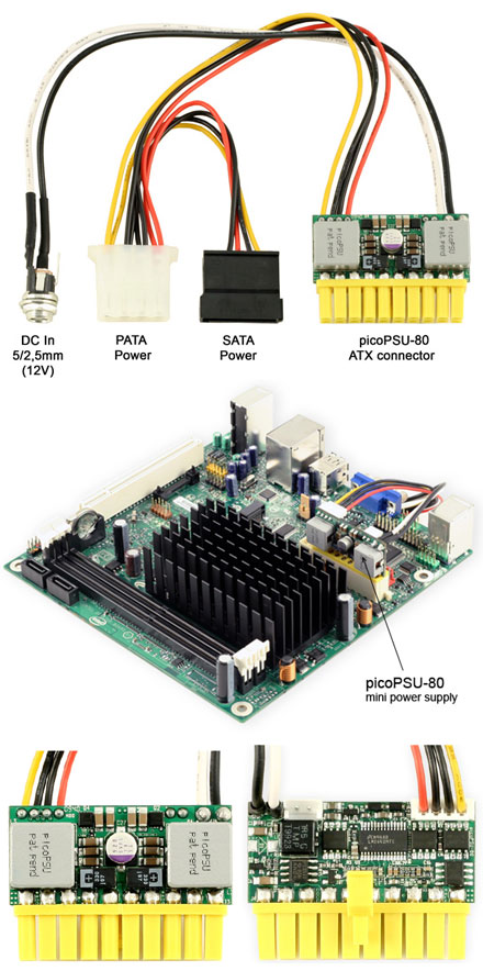 picoPSU-80 DC/DC (80 Watt) [perfect for Intel Atom ITX]
