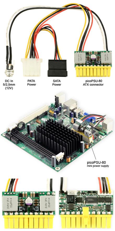 picoPSU-80 DC/DC (80 Watt) + AC/DC 90W Adapter + power cord [Bundle]
