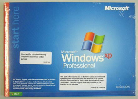 MS WIN XP Pro english (OEM) [ Operating Systems / OS / Betriebssysteme ]